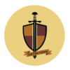 A picture of Paideia's shield and sword logo
